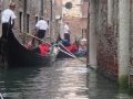 Boys-on-gondolas-Venice